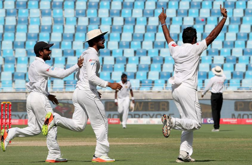 Sri Lanka beat Pakistan in Dubai in October 2017 in their only day/night Test match to date
