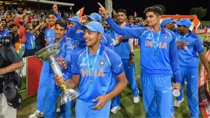 Prithvi Shaw, the India U19 captain, is among a handful of players from the team to have already played first-class cricket.