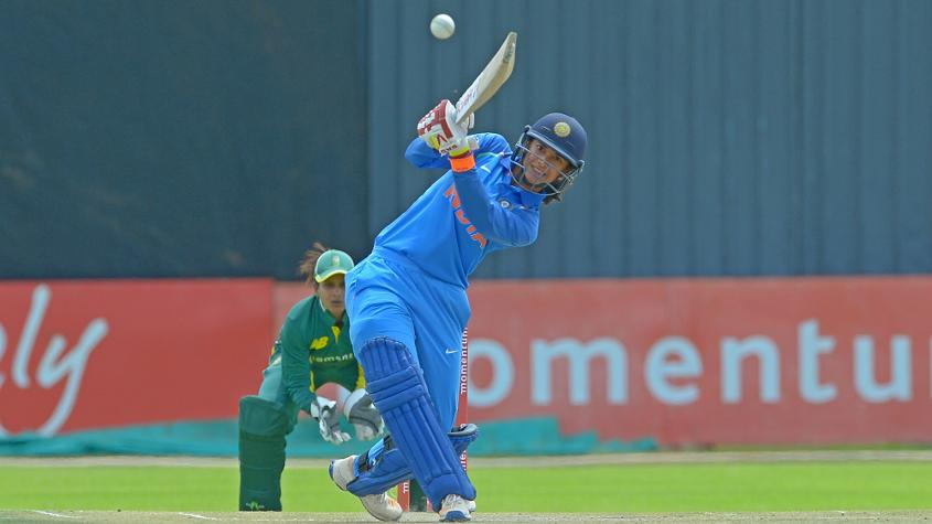 Smriti Mandhana hits out on her way to a superb century