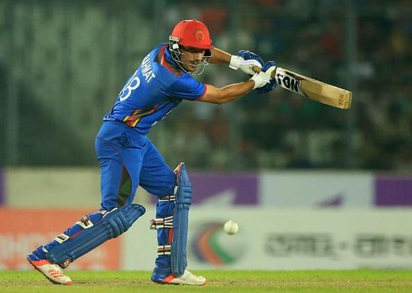 Rahmat Shah is the top run-scorer for Afghanistan in the series