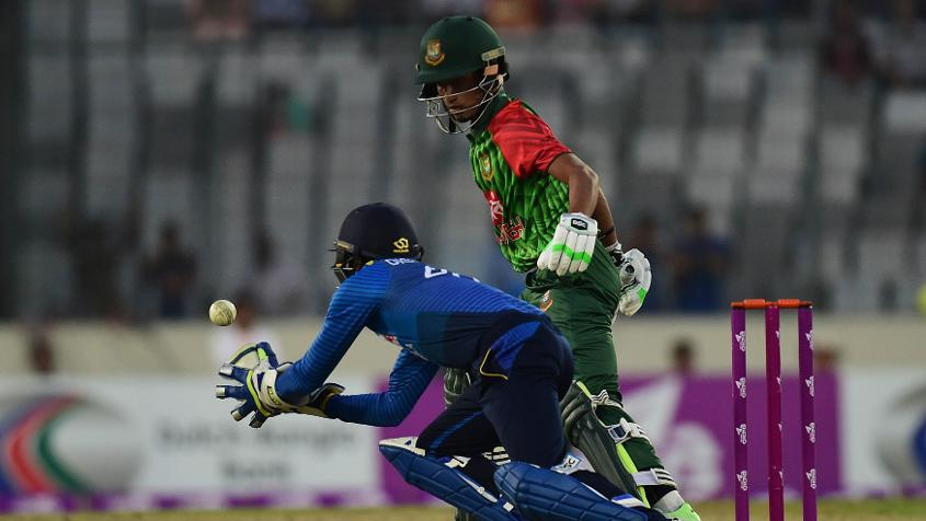 Afif Hossain, one of four debutants for Bangladesh in the first T20I, didn't have too good a time of it