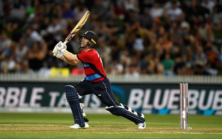 Eoin Morgan top-scored for England with an unbeaten 46-ball 80