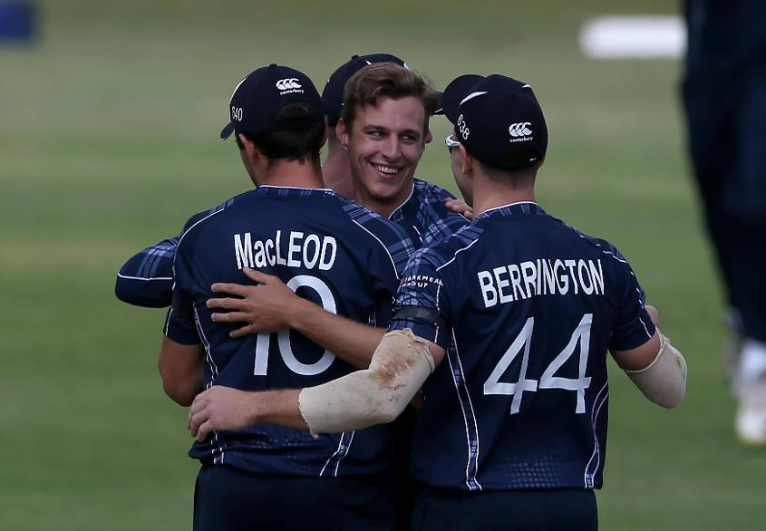 Brad Wheal took three wickets for Scotland in their CWC Qualifier opener against Afghanistan