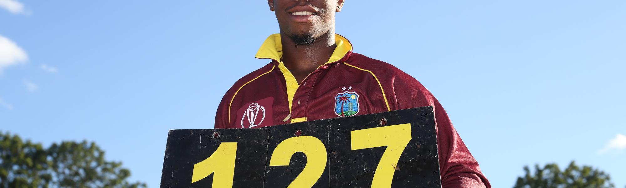 Shimron Hetmyer maiden ODI century