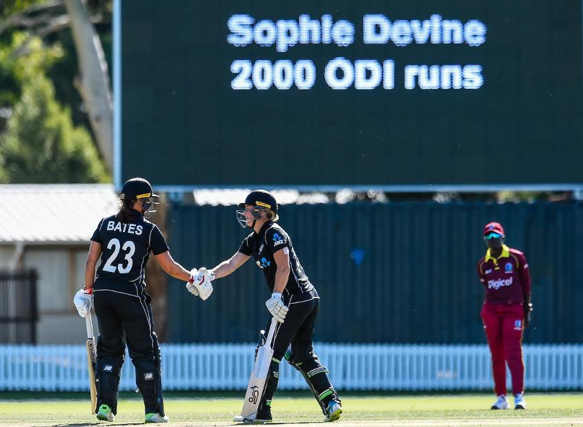Sophie Devine brought up a personal milestone during her 80 in the second ODI against Windies Women