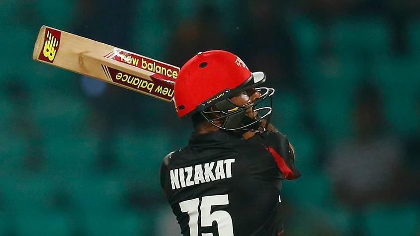 Opening batsman Nizakat Khan made 47 for Hong Kong
