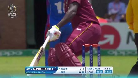 West Indies post 197/8 against Afghanistan in the CWCQ Super Six