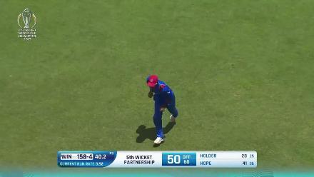 Mujeeb Ur Rahman's 3/33 against West Indies at CWCQ