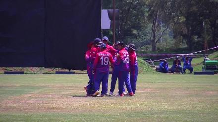 Kiplin Doriga clean bowled by Sandeep Lamichhane