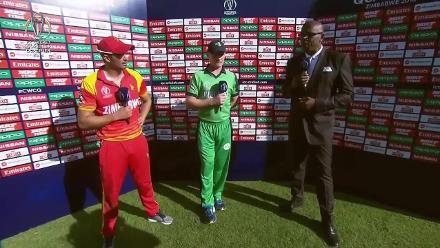 Post-match presentation: Zimbabwe beat Ireland by 107 runs