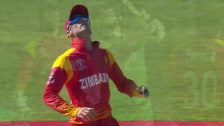 Barry McCarthy dismissed by the Zimbabwe captain
