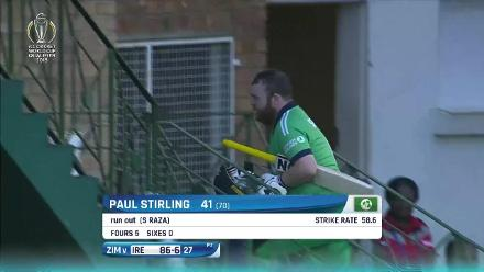 How Ireland's wickets fell as they lost by 107 runs to Zimbabwe in the CWCQ Super Six