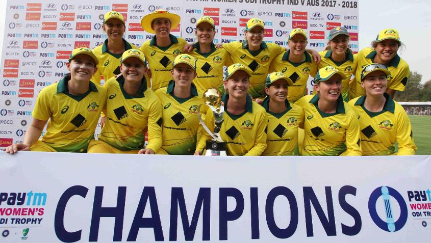 The clean-sweep helped Australia top the rankings table