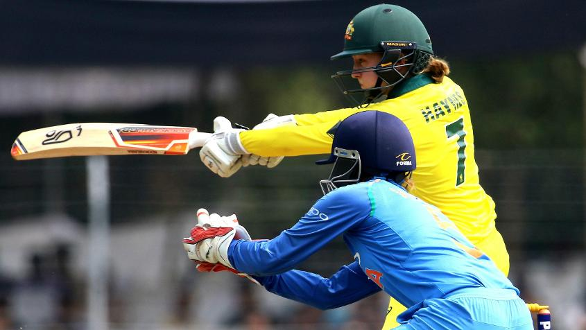 Rachel Haynes partnered Healy in a 96-run stand