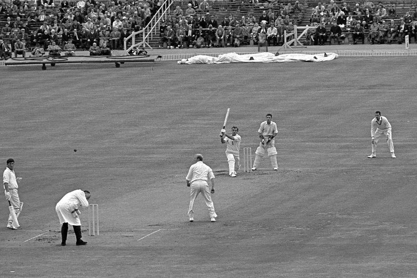 England's John Edrich hit 52 fours in his unbeaten 310 against New Zealand in Leeds in 1965