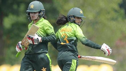 Javeria Khan and Bismah Maroof forged a 49-run stand for the third wicket to get Pakistan out of trouble