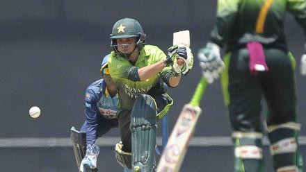 Sana Mir scored a brisk 31-ball 27 which included five fours  to help Pakistan finish on a strong 250/6 at the end of their 50 overs.
