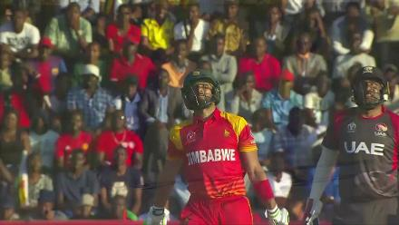 CWCQ POTD - Raza hits a six onto the roof!