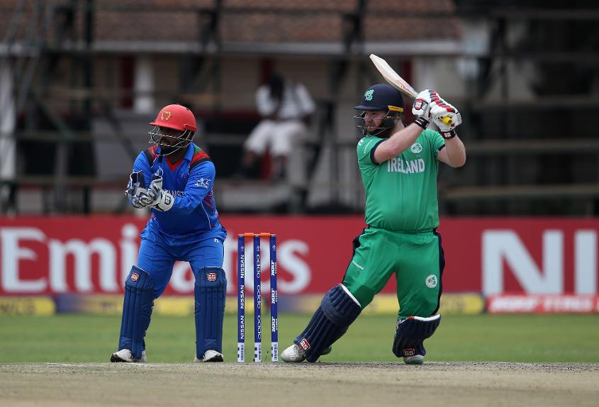 Paul Stirling top-scored for Ireland with an 87-ball 55