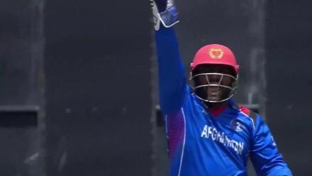 Simi Singh caught down the leg-side off Rashid Khan