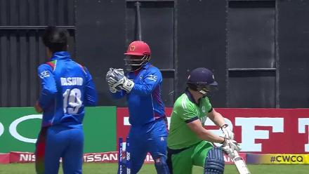 Kevin O'Brien bowled by Rashid Khan for 41