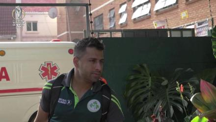 Ireland arrive at Harare Sports Club for Afghanistan clash