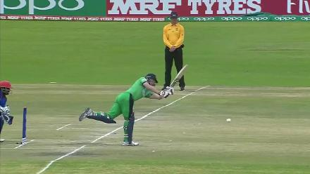 Nabi claims the opening wicket of Porterfield