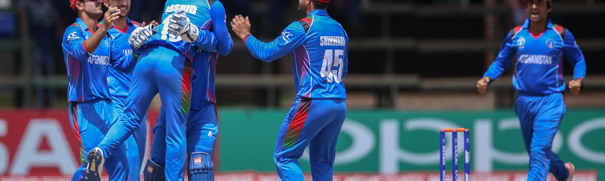 When he trapped Shai Hope lbw, Rashid Khan became the quickest to 100 wickets in ODIs