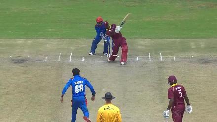 Mujeeb Ur Rahman ends Rovman Powell's innings on 44