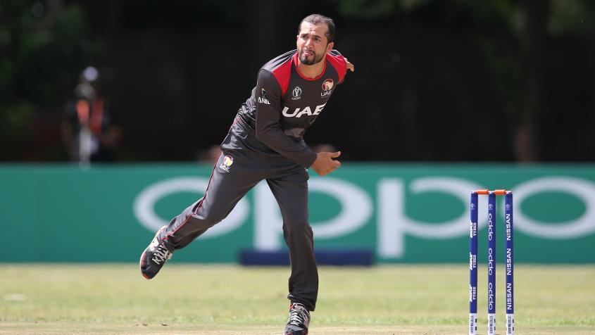 Rohan Mustafa starred with the ball for UAE
