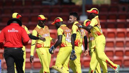 Uganda players celebrates