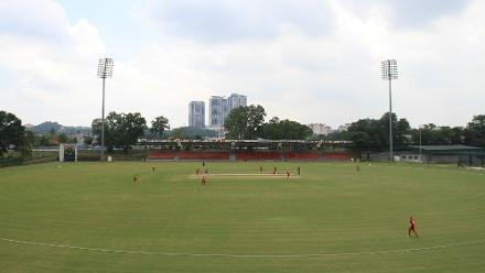 General view of Kinrara Oval during the match between Denmark and Vanuatu
