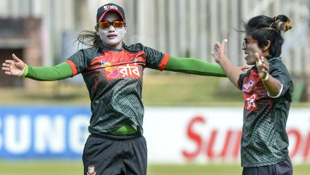 Bangladesh players train ahead of the second ODI