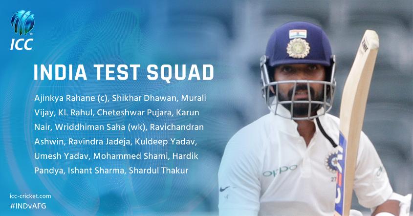 India's Test squad in full