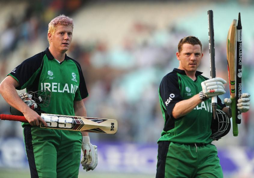 Leaving the field after seeing Ireland home against the Netherlands at the 2011 World Cup