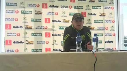 Ireland captain William Porterfield addresses the press ahead of his side's inaugural Test match