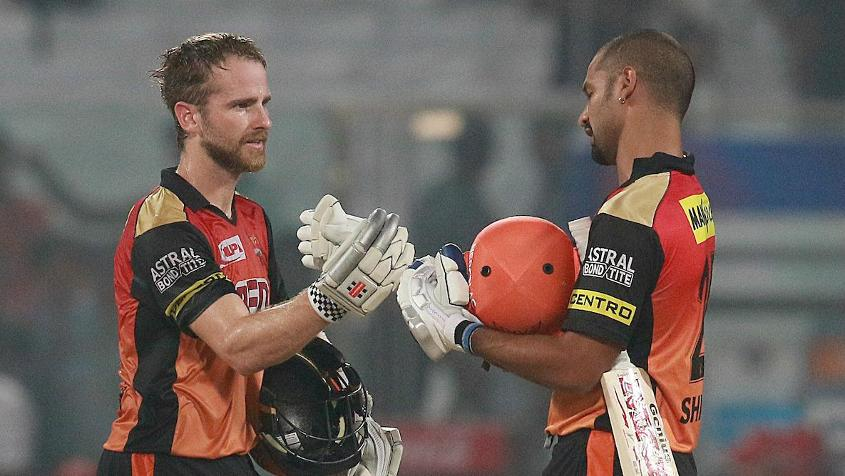 Kane Williamson (83*) and Shikhar Dhawan (92*) took Hyderabad to victory