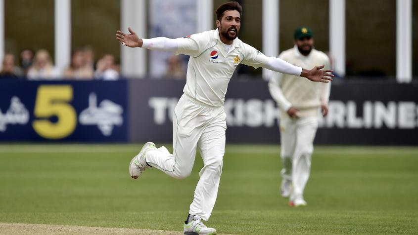 Amir picked up three quick wickets early on day three