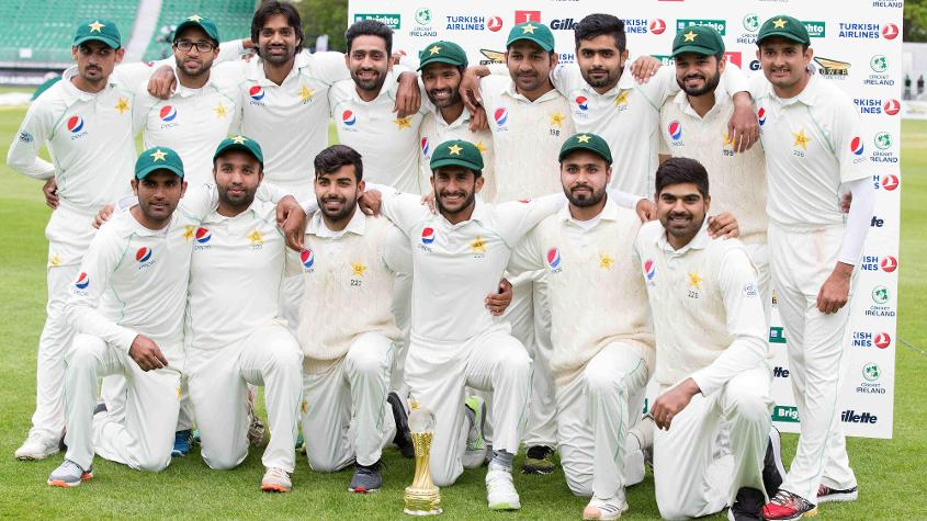 Pakistan survived a wobble to win the Test against Ireland by five wickets