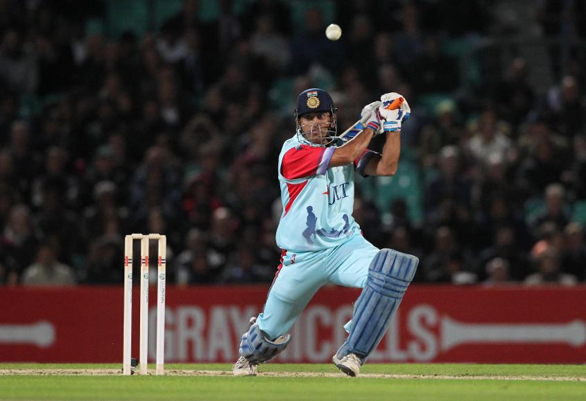 MS Dhoni scored a 22-ball 38* as Help for Heroes beat ROW XI in 2015