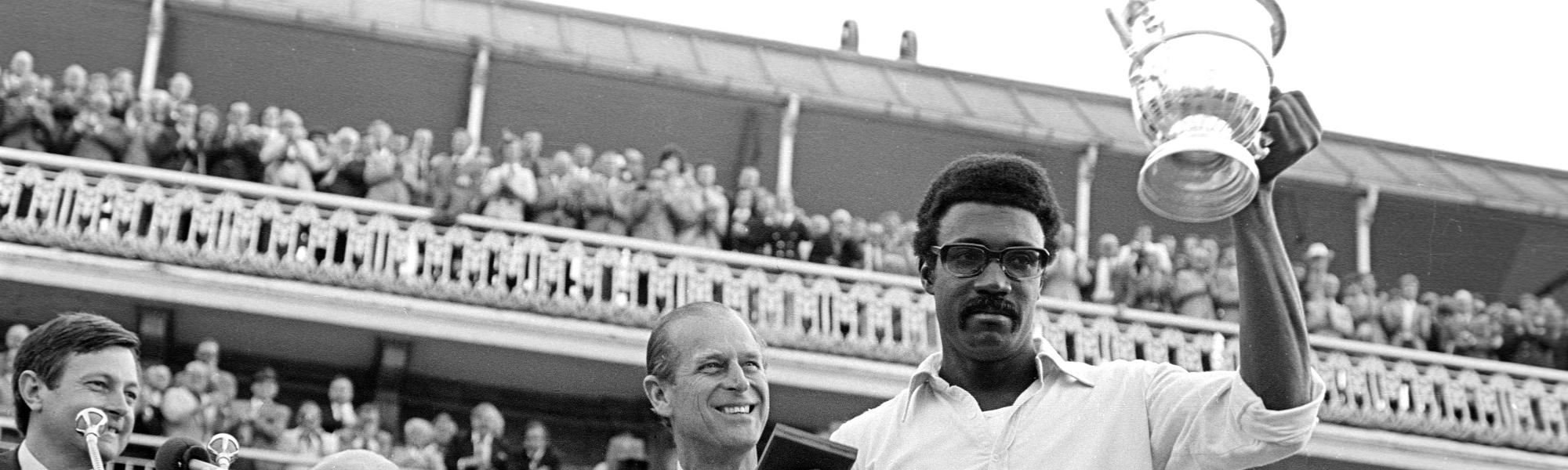 Clive Lloyd with the 1975 World Cup