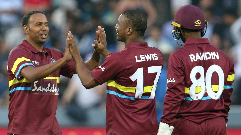 Samuel Badree, Evin Lewis and Denesh Ramdin were among the Windies players to gain in the latest rankings
