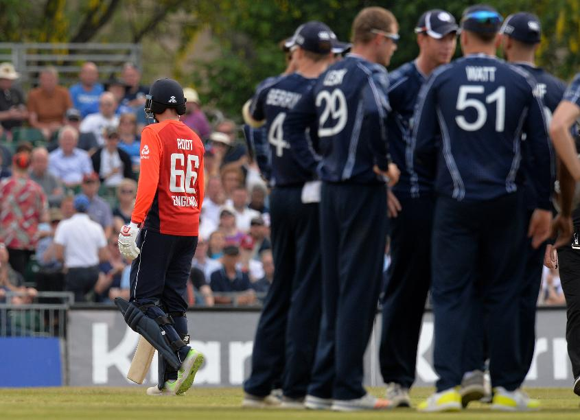 Joe Root strikes a lonely figure having been run out