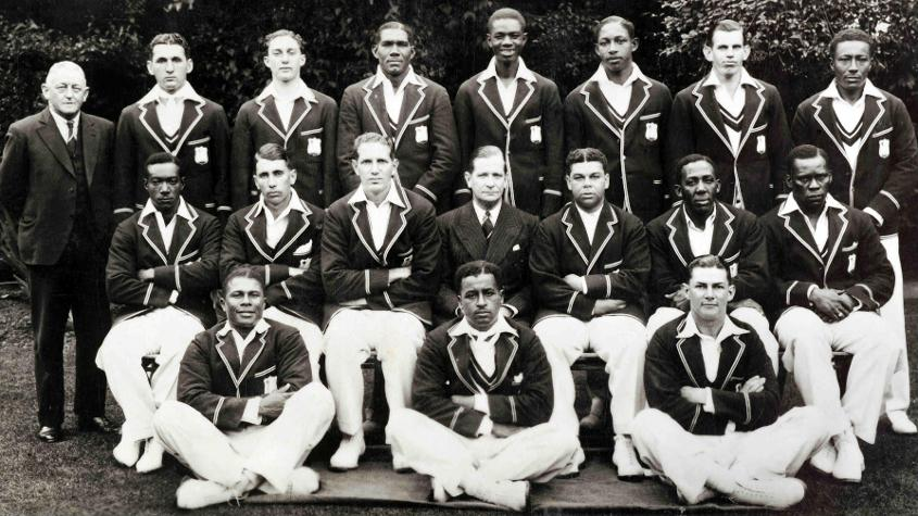 Gerry Gomez (standing second from left) played football for Trinidad and also served as a football administrator