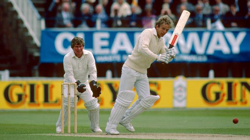 England's David Gower finished at the top of the run-scoring charts with 384 runs