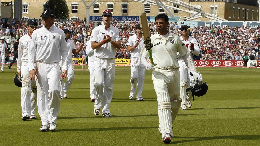 Dravid scored three centuries during the Test series in England in 2011 even as India were swept 4-0