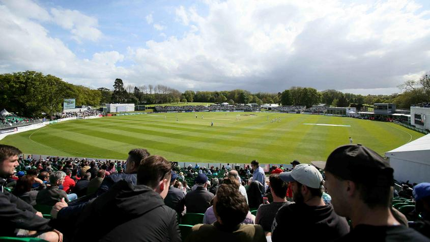 When the rain stays away, Malahide can be a beautiful setting for cricket