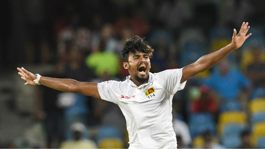Suranga Lakmal was the pick of the Sri Lankan bowlers, returning 3/25