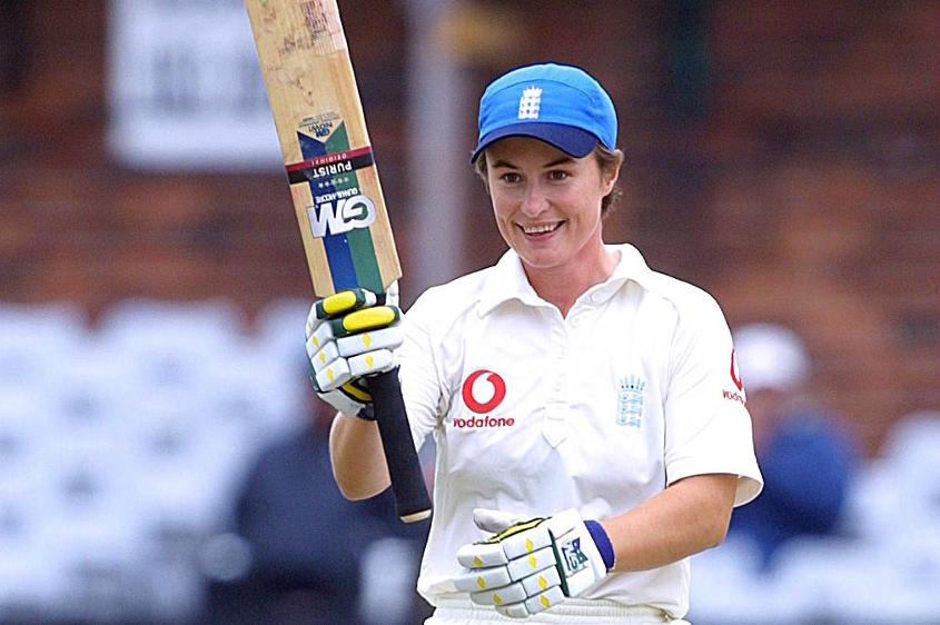 The England batter brought up her first Test century against Australia in 2001