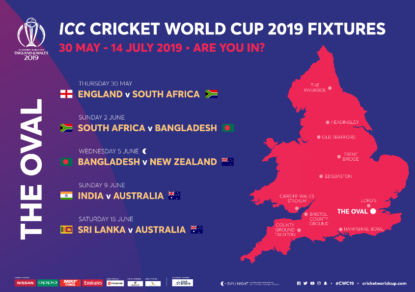The Oval fixtures